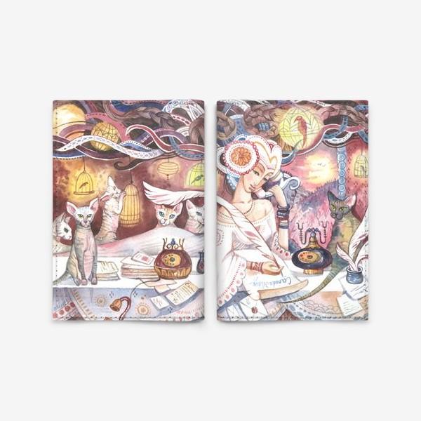Обложка для паспорта «сфинксы»