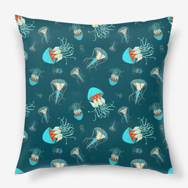 Подушка «Парящие медузы»