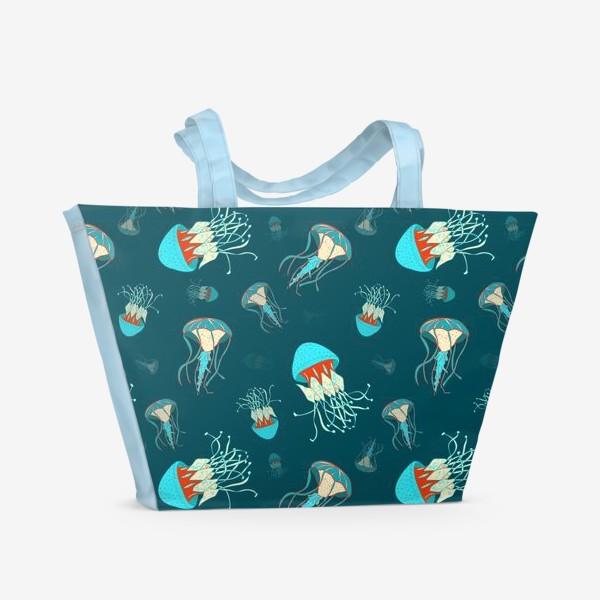 Пляжная сумка «Парящие медузы»