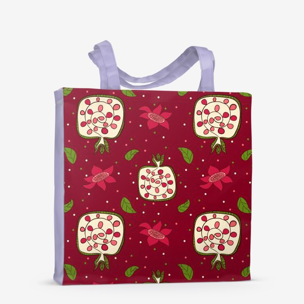 Сумка-шоппер «Гранат и листья»