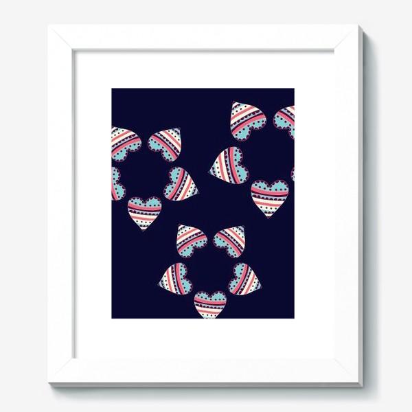 Картина «Цветы из сердец»