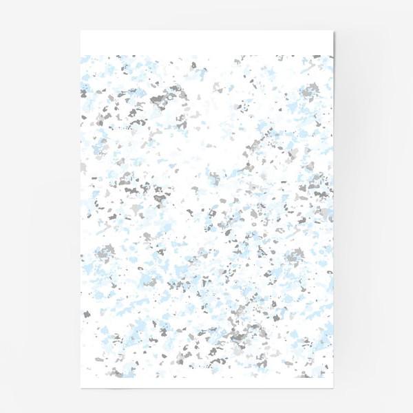 Постер «Абстрактная серо-голубая текстура»