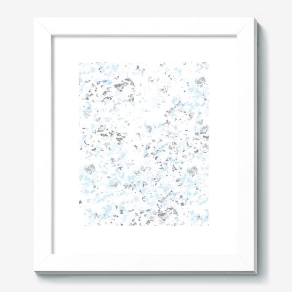 Картина «Абстрактная серо-голубая текстура»