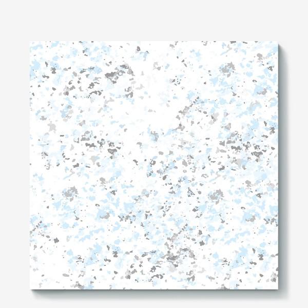 Холст «Абстрактная серо-голубая текстура»