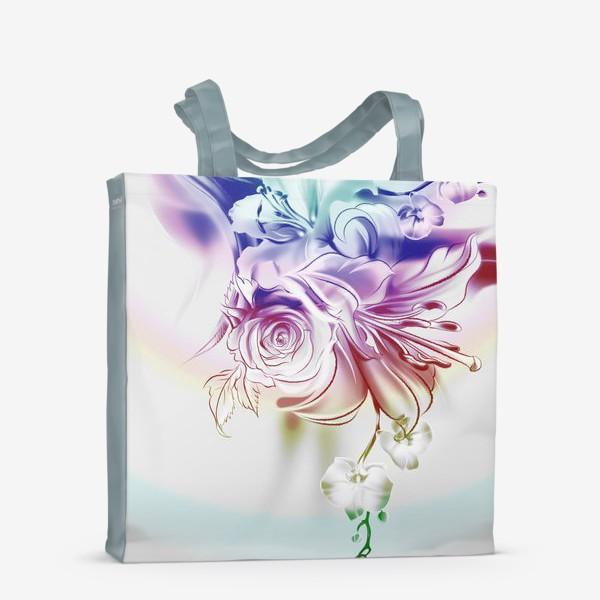 Сумка-шоппер «Лилия, роза и орхидея»