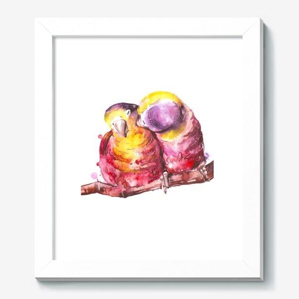 Картина «попугай любовь»