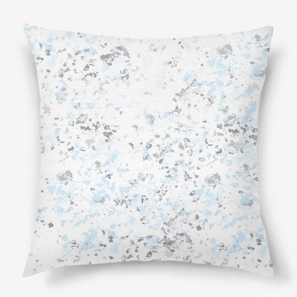 Подушка «Абстрактная серо-голубая текстура»