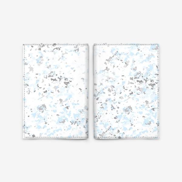 Обложка для паспорта «Абстрактная серо-голубая текстура»