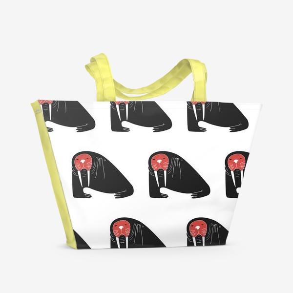 Пляжная сумка «Моржи передают привет»