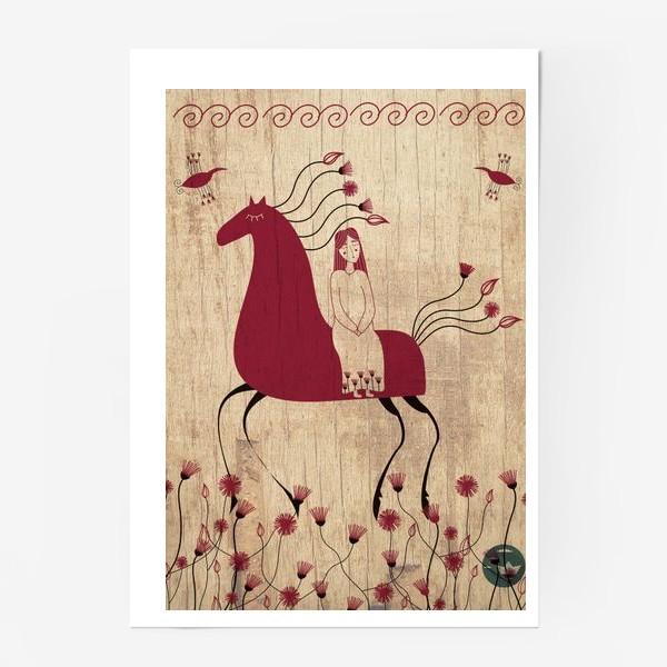Постер «Мезенская лошадь»