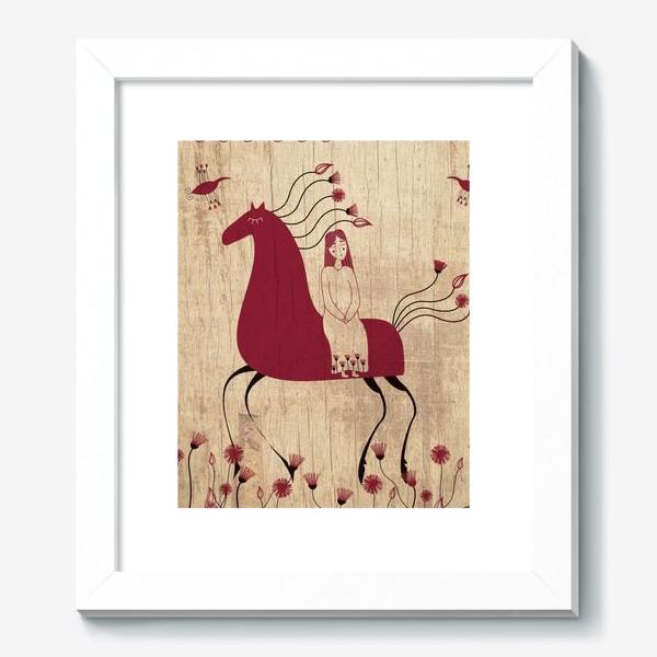 Картина «Мезенская лошадь»