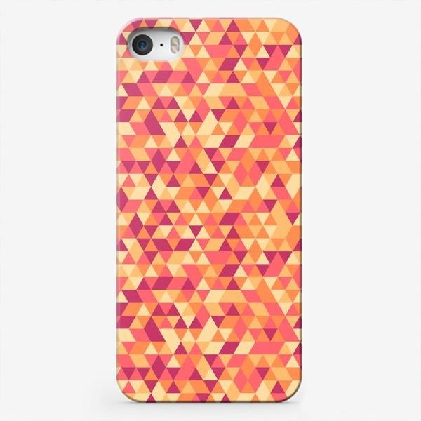 Чехол iPhone «Осенний стиль. Треугольники»