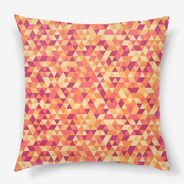 Подушка «Осенний стиль. Треугольники»