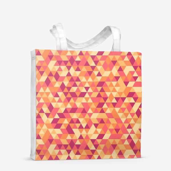Сумка-шоппер «Осенний стиль. Треугольники»