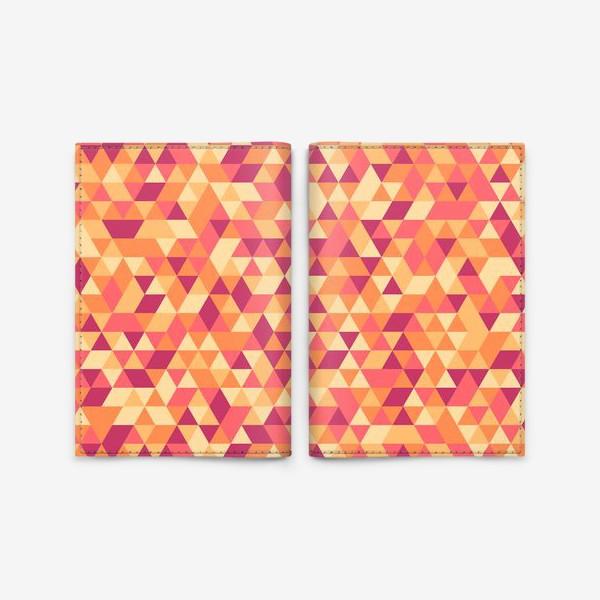 Обложка для паспорта «Осенний стиль. Треугольники»