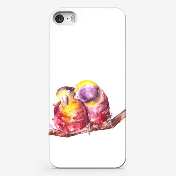 Чехол iPhone «попугай любовь»