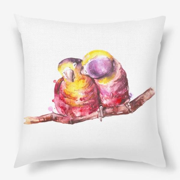 Подушка «попугай любовь»
