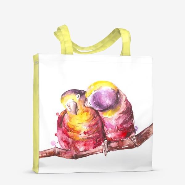 Сумка-шоппер «попугай любовь»