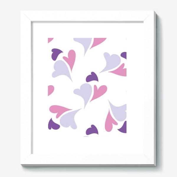 Картина «Hearts Purple Pattern»