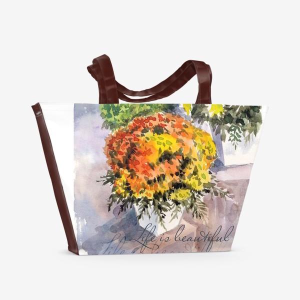 Пляжная сумка «Life is beautiful»