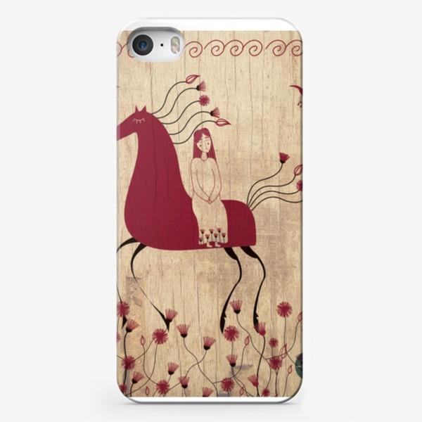 Чехол iPhone «Мезенская лошадь»