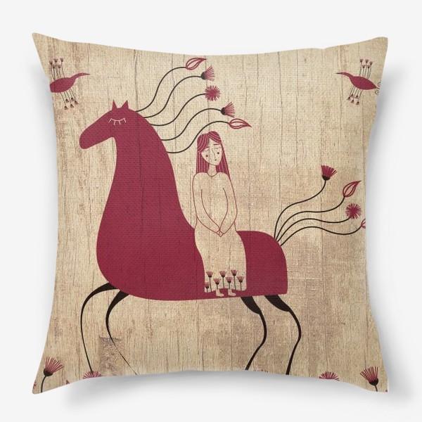 Подушка «Мезенская лошадь»