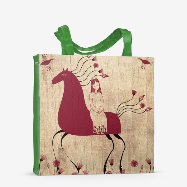 Сумка-шоппер «Мезенская лошадь»
