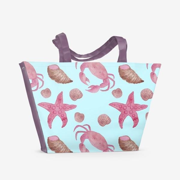 Пляжная сумка «Blue Crab Pattern»