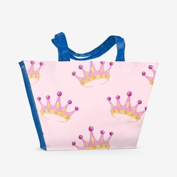 Пляжная сумка «Crown Pink»