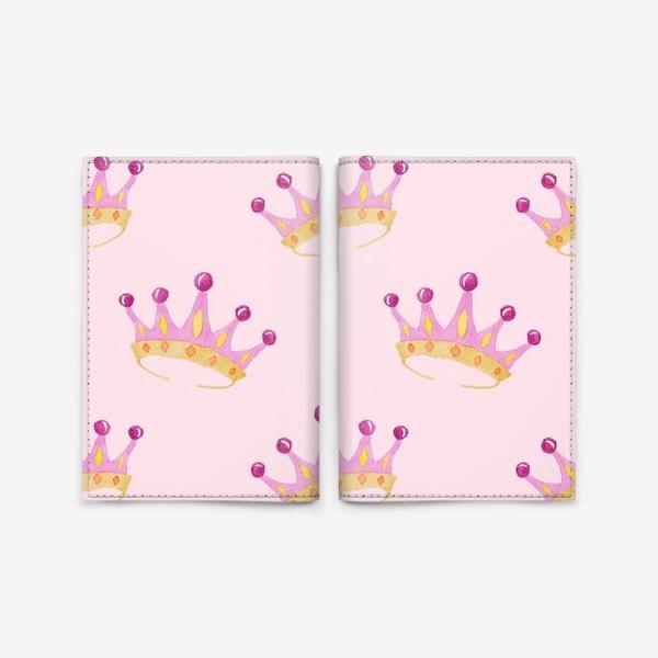 Обложка для паспорта «Crown Pink»
