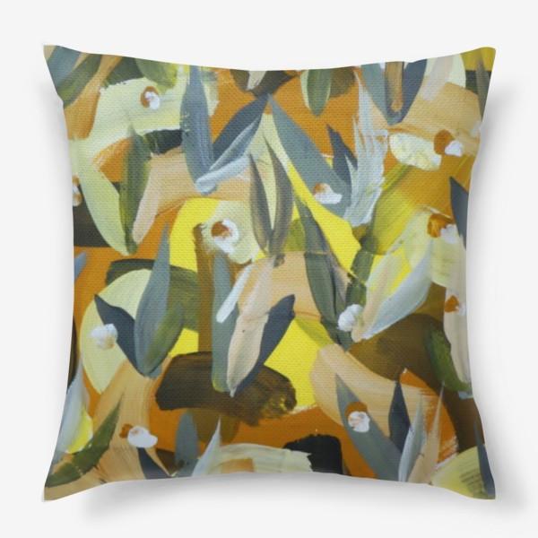 Подушка «Осенний желтый мотив 2»