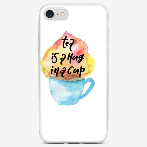 Чехол iPhone «Акварельное сердце»