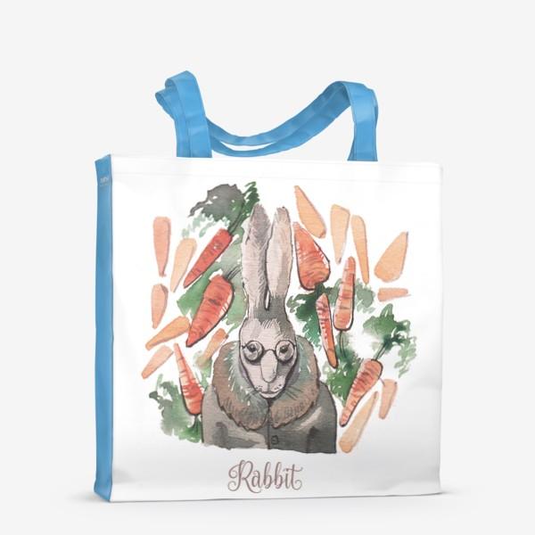 "Сумка-шоппер «Кролик:""Запасайся морковкой!""»"