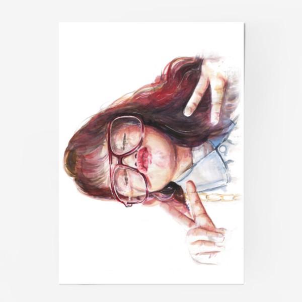 Постер «девочка в очках»