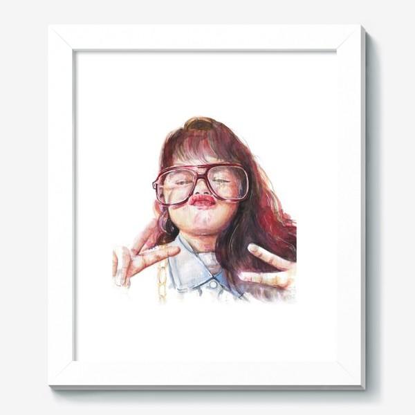 Картина «девочка в очках»