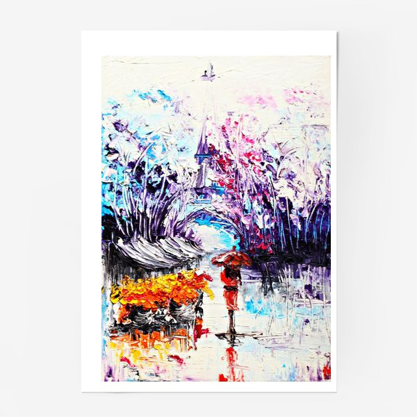 Постер «Девушка в красном и Париж»