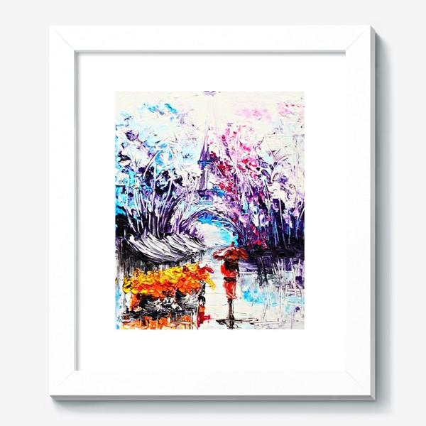 Картина «Девушка в красном и Париж»