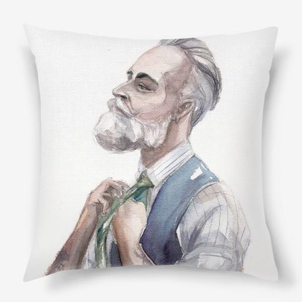 Подушка «Модный мужчина с бородой»