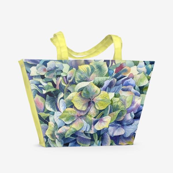 Пляжная сумка «Лесная гортензия»