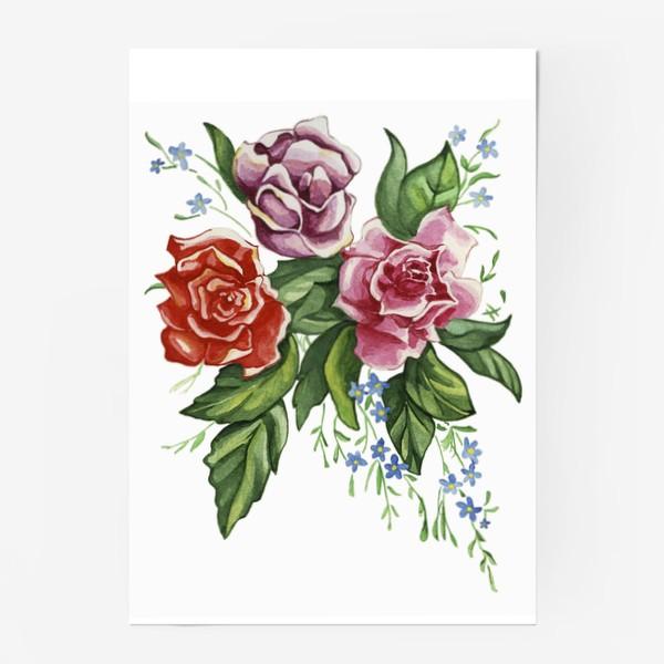 Постер «Розы и незабудки»