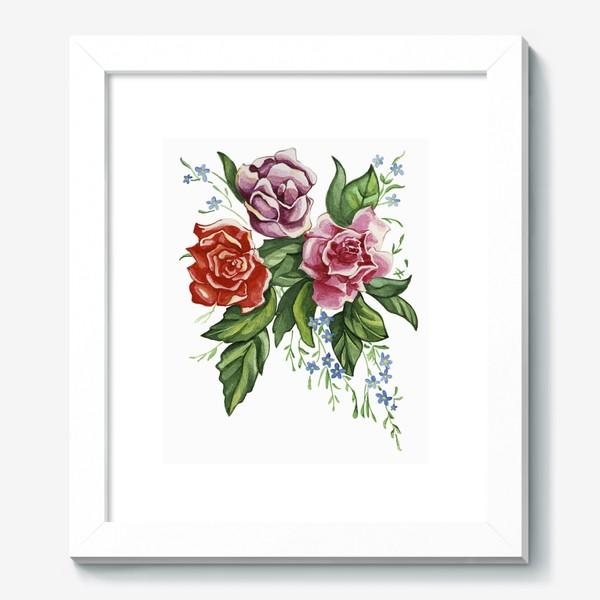 Картина «Розы и незабудки»