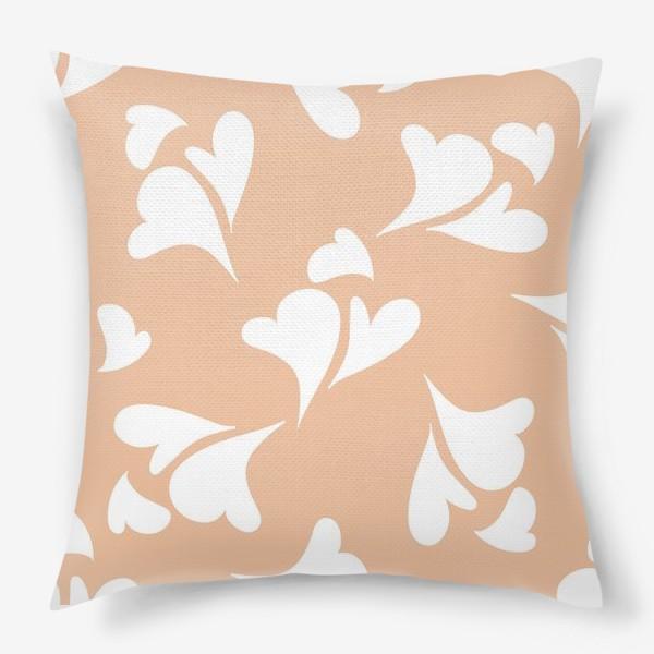 Подушка «Hearts Peachy »