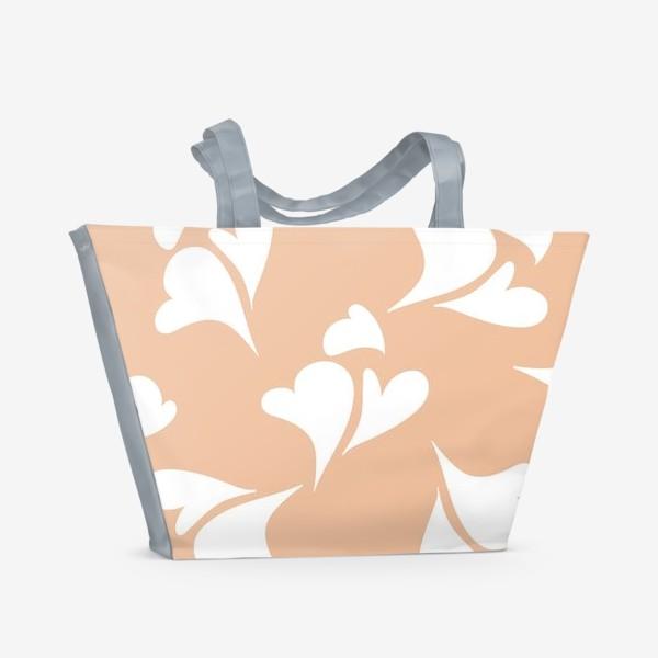 Пляжная сумка «Hearts Peachy »
