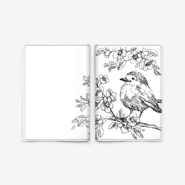 Обложка для паспорта «Птичка»