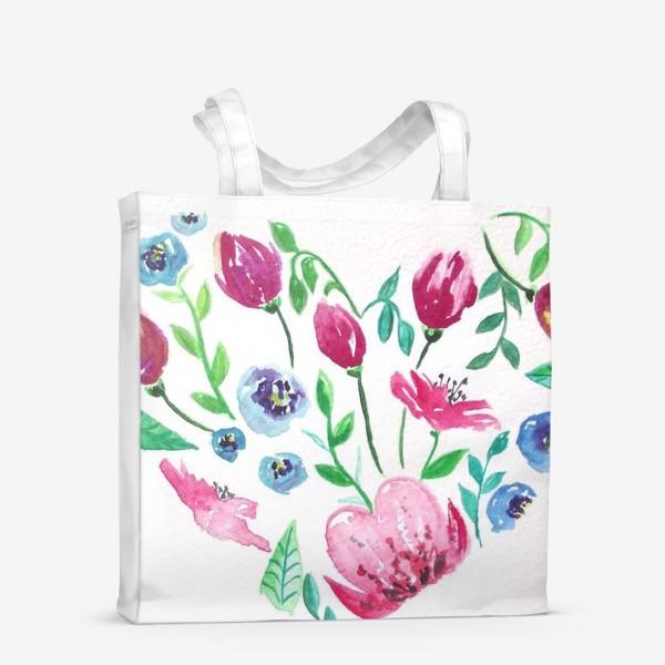 Сумка-шоппер «Цветущее сердце»