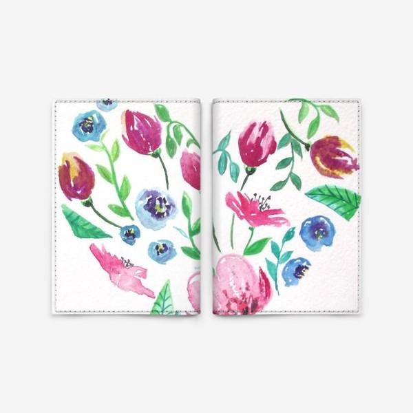 Обложка для паспорта «Цветущее сердце»
