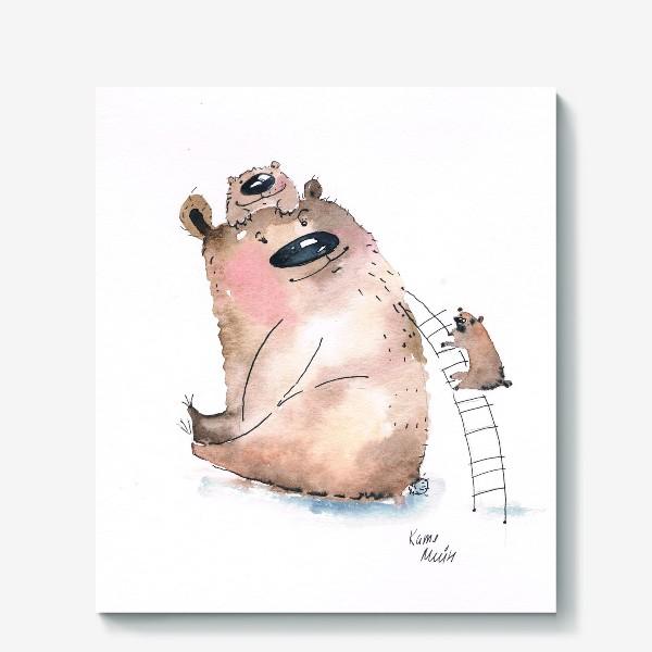 Холст «Мама медведь»