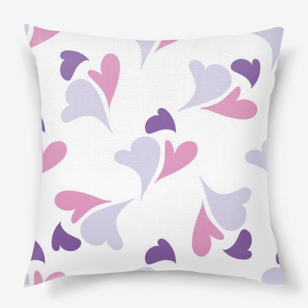 Подушка «Hearts Purple Pattern»