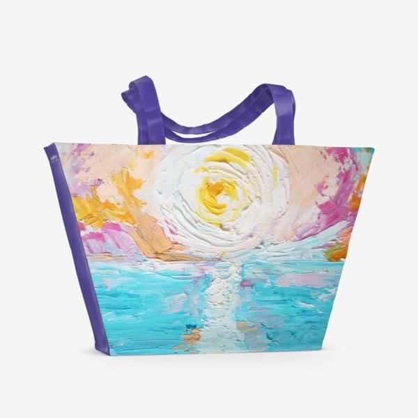 Пляжная сумка «Мое в цветах»