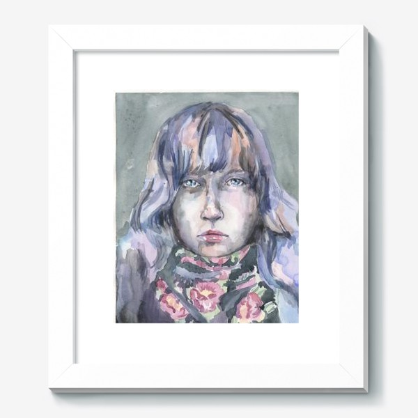 Картина «Девушка с цветочным шарфом»